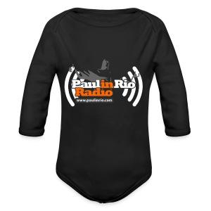 Paul in Rio Radio - Thumbs-up Corcovado #1 - Long Sleeve Baby Bodysuit