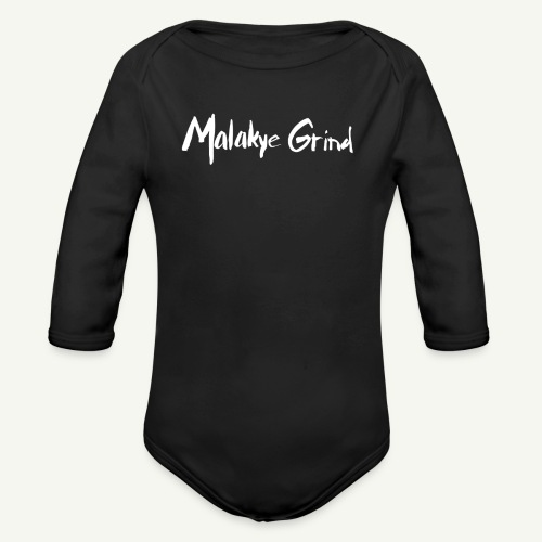 Malakye Grind Rock'n'Roll is Black Series - Organic Long Sleeve Baby Bodysuit