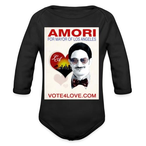 Amori for Mayor of Los Angeles eco friendly shirt - Organic Long Sleeve Baby Bodysuit