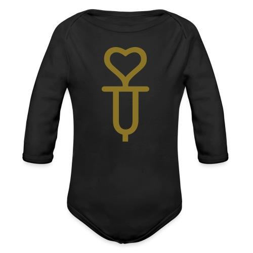 Addicted to love - Organic Long Sleeve Baby Bodysuit