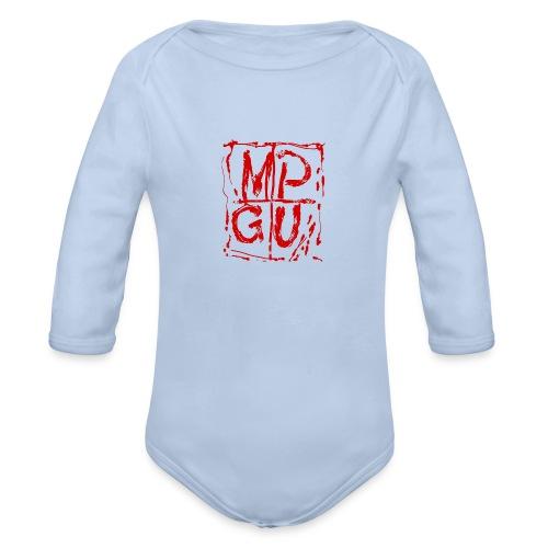 MPGU RED STROKE - Organic Long Sleeve Baby Bodysuit