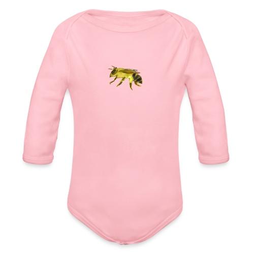 Small Bee - Organic Long Sleeve Baby Bodysuit