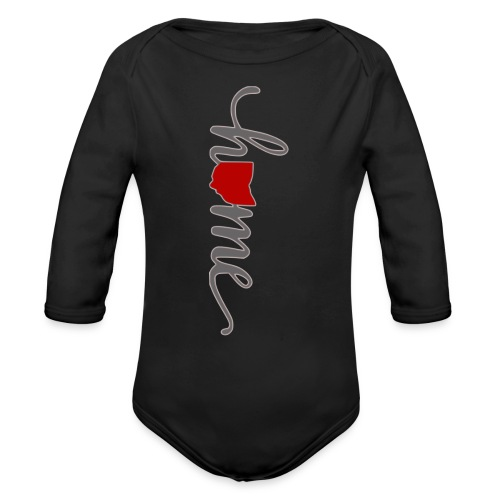 Home Heart Ohio - Organic Long Sleeve Baby Bodysuit