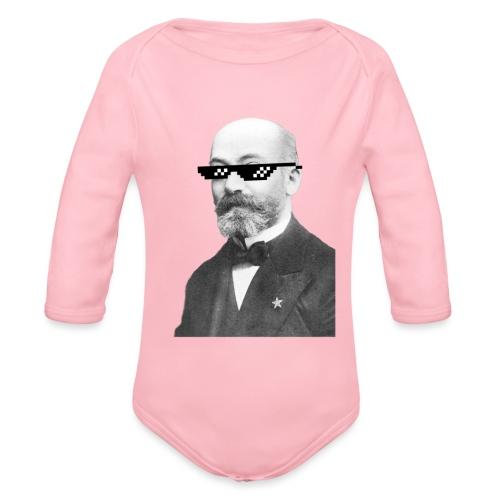 Zamenhof Shades (BW) - Organic Long Sleeve Baby Bodysuit