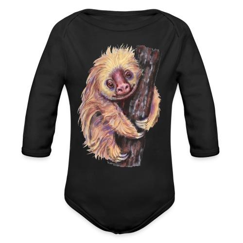 Sloth - Organic Long Sleeve Baby Bodysuit