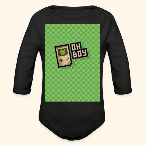 oh boy handy - Organic Long Sleeve Baby Bodysuit
