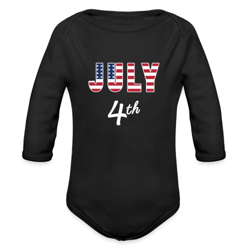 July 4th - Organic Long Sleeve Baby Bodysuit
