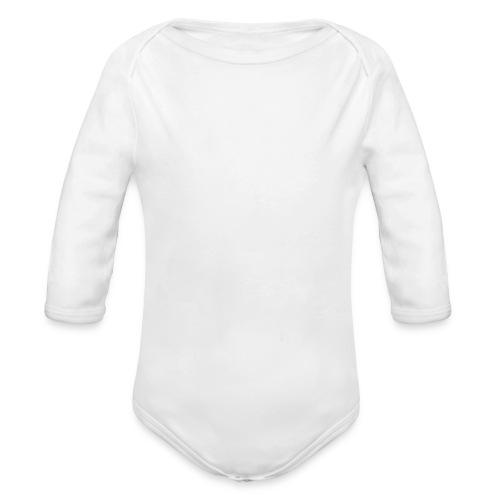 tribeca citizen stacked logo in white - Organic Long Sleeve Baby Bodysuit