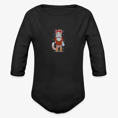 coco kitten - Organic Long Sleeve Baby Bodysuit