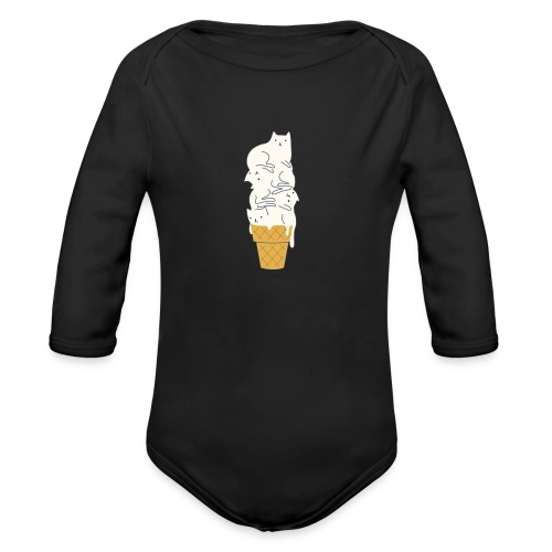 Meowlting - Organic Long Sleeve Baby Bodysuit