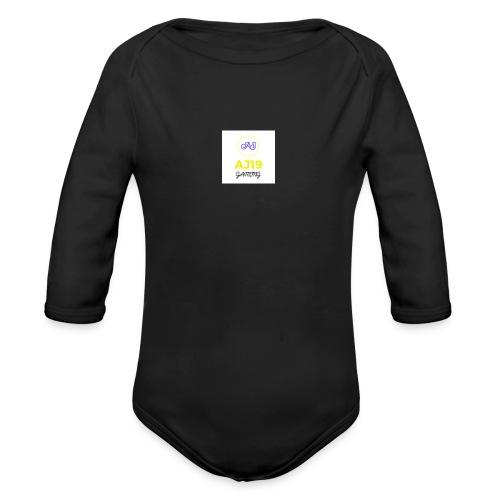 2nd version of logo - Organic Long Sleeve Baby Bodysuit