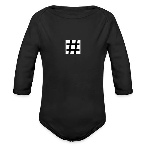 Hashtag Merch - Organic Long Sleeve Baby Bodysuit