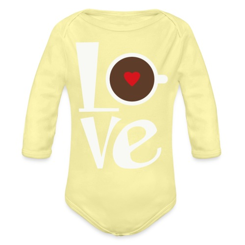 Love Coffee - Organic Long Sleeve Baby Bodysuit