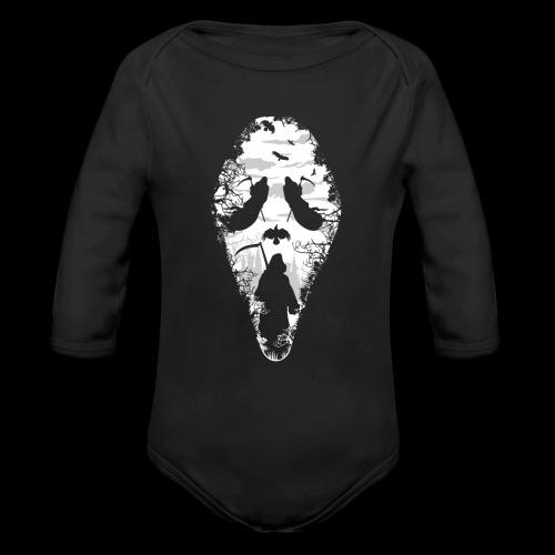 Reaper Screams   Scary Halloween - Organic Long Sleeve Baby Bodysuit