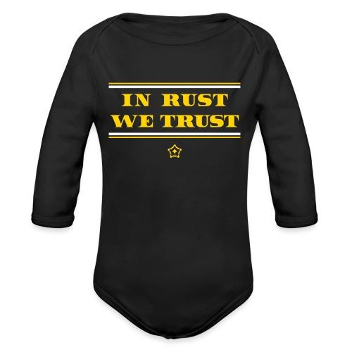 trust - Organic Long Sleeve Baby Bodysuit