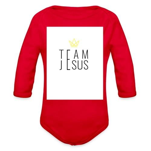TEAM JESUS3 - Organic Long Sleeve Baby Bodysuit