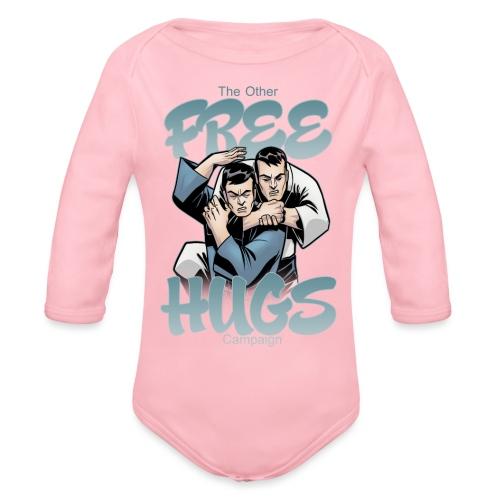 Judo shirt Jiu Jitsu shirt Free Hugs - Organic Long Sleeve Baby Bodysuit
