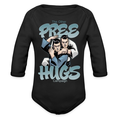 Free Hugs - Organic Long Sleeve Baby Bodysuit