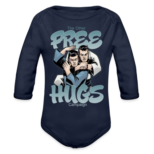 Free Hugs - Organic Long Sleeve Baby Bodysuit