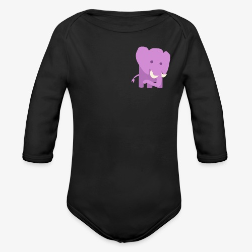 Elephant - Organic Long Sleeve Baby Bodysuit