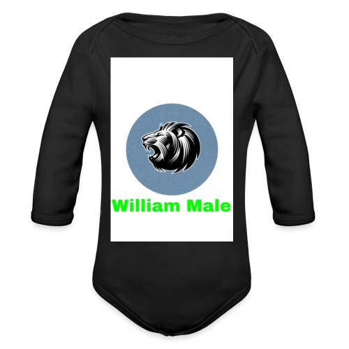 William Male - Organic Long Sleeve Baby Bodysuit