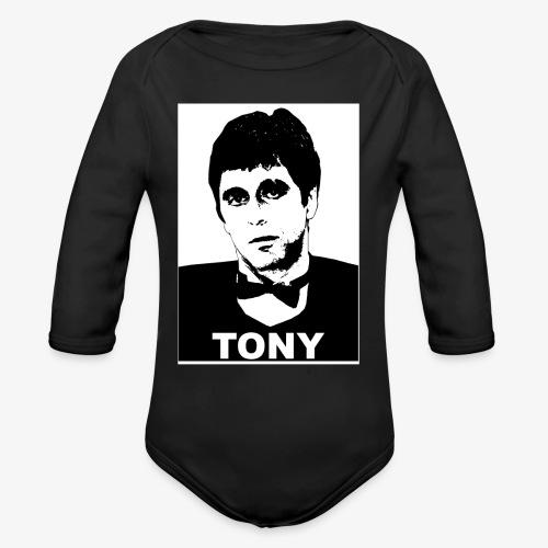 Tony Montana - Organic Long Sleeve Baby Bodysuit