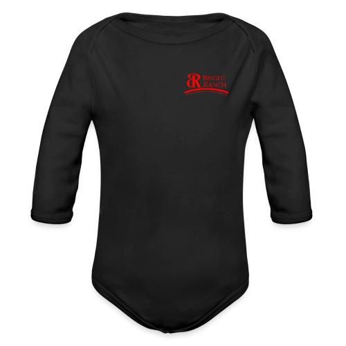 BRLogoTextRed - Organic Long Sleeve Baby Bodysuit