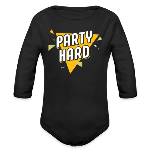 Party Hard 2021 - Organic Long Sleeve Baby Bodysuit