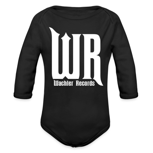 Wachler Records Light Logo - Organic Long Sleeve Baby Bodysuit