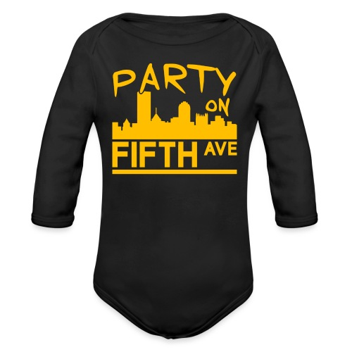 Party on Fifth Ave - Organic Long Sleeve Baby Bodysuit