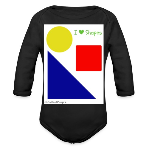 Hi I'm Ronald Seegers Collection-I Love Shapes - Organic Long Sleeve Baby Bodysuit