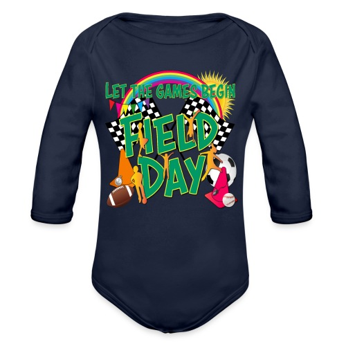 Field Day Games for SCHOOL - Organic Long Sleeve Baby Bodysuit