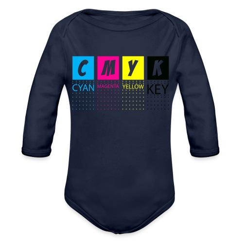 CMYK T SHIRTS - Organic Long Sleeve Baby Bodysuit