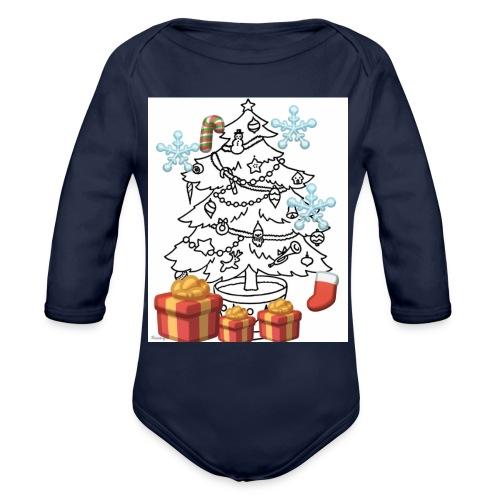 Christmas is here!! - Organic Long Sleeve Baby Bodysuit