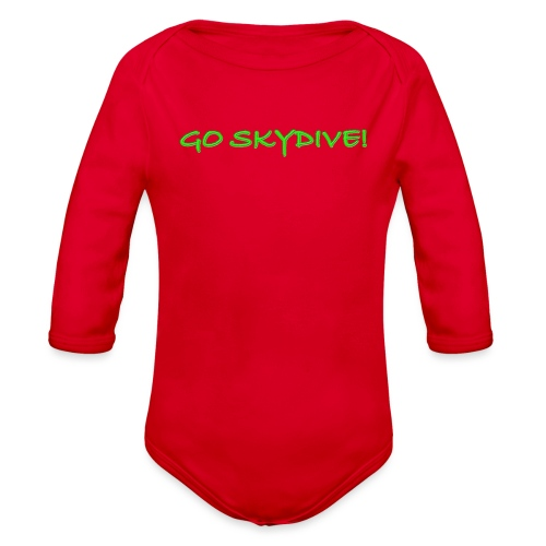 Go Skydive T-shirt/Book Skydive - Organic Long Sleeve Baby Bodysuit