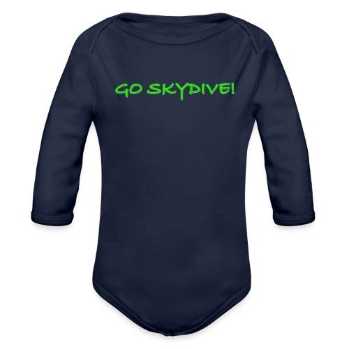 Go Skydive T-shirt/Book Skydive - Organic Long Sleeve Baby Bodysuit