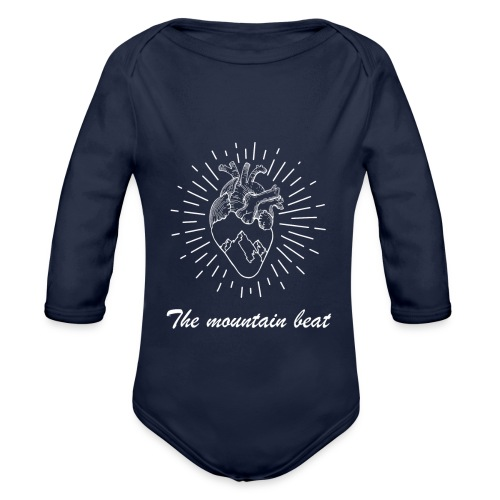 Adventure - The Mountain Beat T-shirts & Products - Organic Long Sleeve Baby Bodysuit
