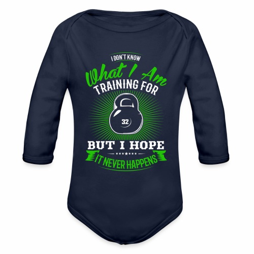 Workout Training - Organic Long Sleeve Baby Bodysuit