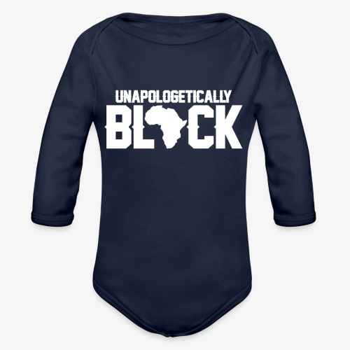 Africa Black - Organic Long Sleeve Baby Bodysuit