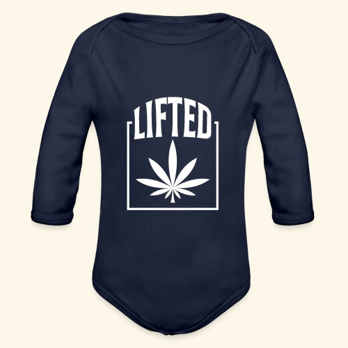 LIFTED T-SHIRT FOR MEN AND WOMEN - CANNABISLEAF - Organic Long Sleeve Baby Bodysuit