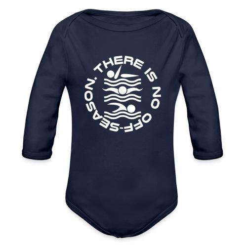 There is no Swim off-season logo - Organic Long Sleeve Baby Bodysuit