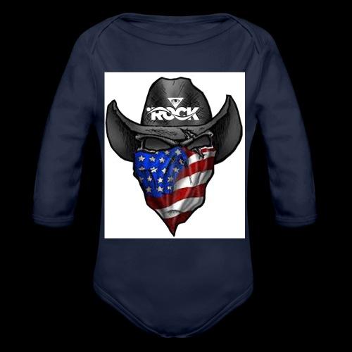 Eye rock cowboy Design - Organic Long Sleeve Baby Bodysuit