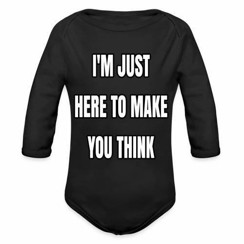 IJHTMYT (White Font) - Organic Long Sleeve Baby Bodysuit