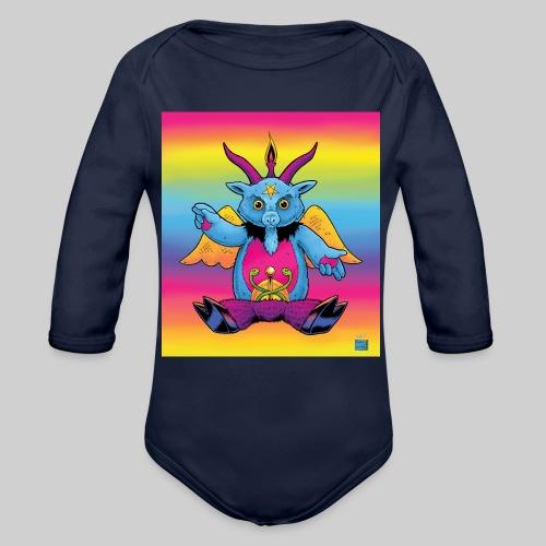 Rainbow Baphomet - Organic Long Sleeve Baby Bodysuit