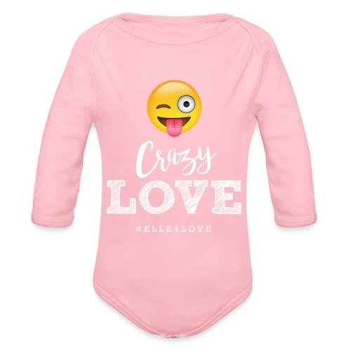 Crazy Love - Organic Long Sleeve Baby Bodysuit