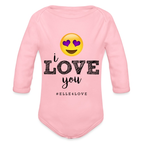 I LOVE you - Organic Long Sleeve Baby Bodysuit