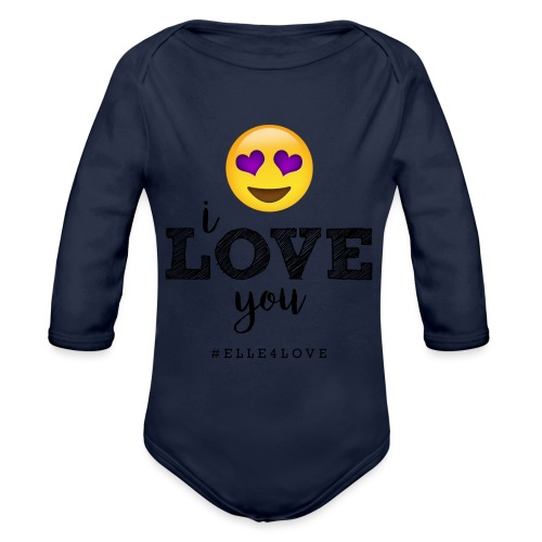 I LOVE you - Organic Long Sleeve Baby Bodysuit