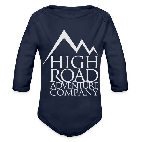 High Road Adventure Company Logo - Organic Long Sleeve Baby Bodysuit