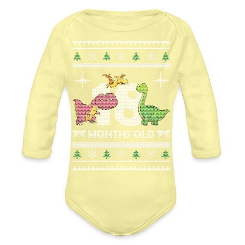 Christmas 18 months old - Organic Long Sleeve Baby Bodysuit