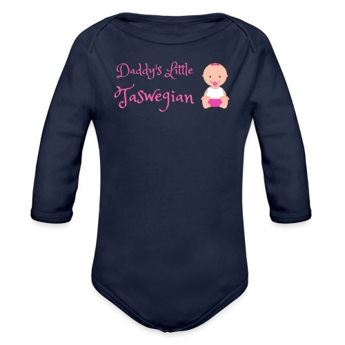 Daddys Little Taswegian Girls - Organic Long Sleeve Baby Bodysuit